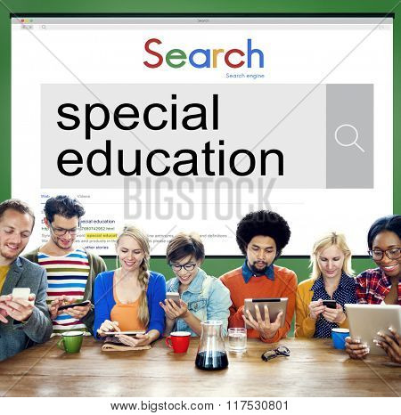 Special Education Studying School ADHA Behavior Concept