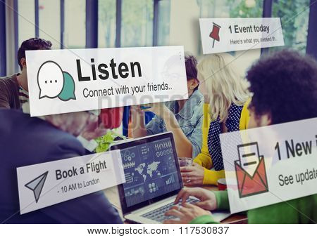 Listen Communication Listening Noise Concept
