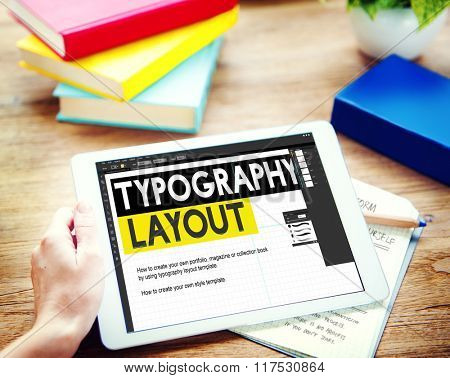 Typography Layout Ideas Creativity Design Element Concept