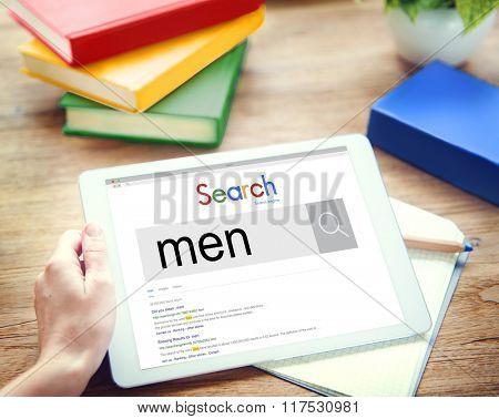 Men Boys Gentleman People Staff Concept