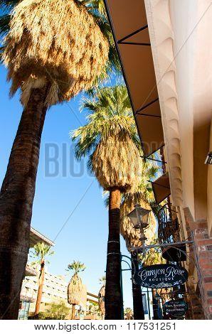 Palm Springs California , USA-February 7th, 2016:Shopping on Palm Canyon Dr in Palm Spring California USA