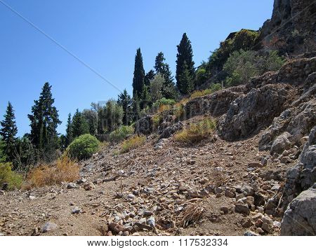 Mountain Slope In Turkey.
