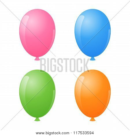 Air Balloon Set. Vector