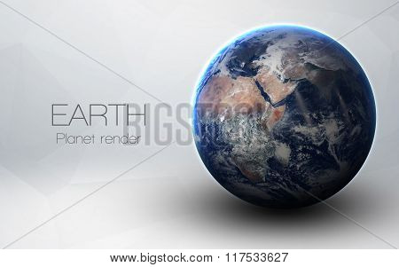 Earth - High resolution 3D images presents planets of the solar system. This image elements furnishe
