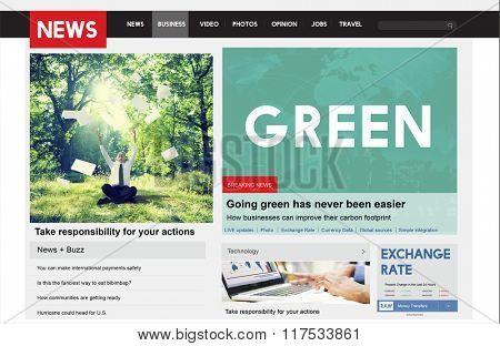 Green Ecology Environmental Eco Earth Concept