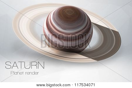 Saturn - High resolution 3D images presents planets of the solar system. This image elements furnish
