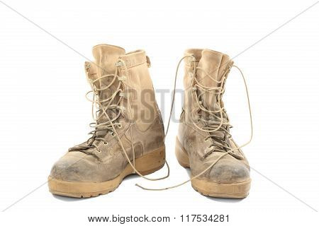 Old And Dirty Combat Boots
