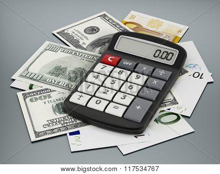 Calculator And Paper Currencies