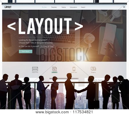Layout Editing Page Responsive Design Concept