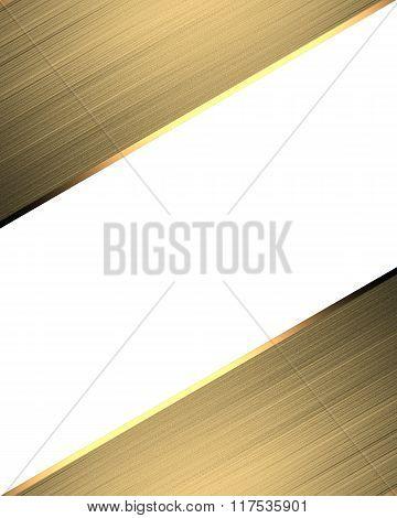 Golden Frame For Design. Element For Design. Template For Design. Copy Space For Ad Brochure Or Anno