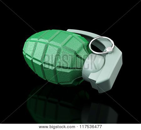 Grenade On A Black Background
