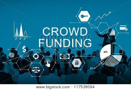 Crowd Funding Supporters Investment Fundraiser Contribution Concept