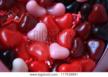 Heart candies for Valentines