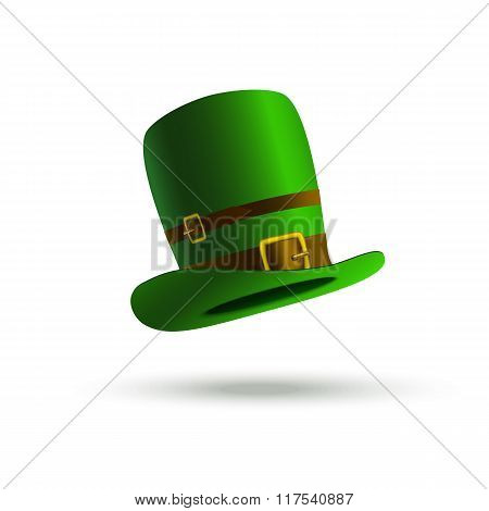 Leprechaun Hat On A White Background. Isolated Object