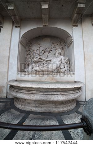 Rome, Italy: sculpture in ensemble of Quattro Fontane, Four Fountains