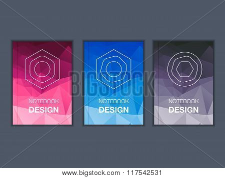 Colorful brochure title sheet set