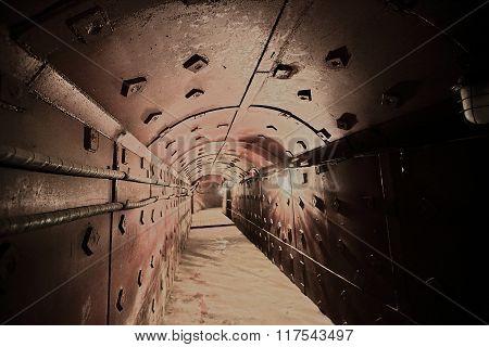 Old bunker's corridor