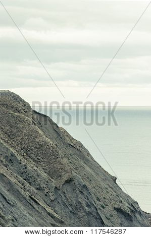 Beautiful Sea and Sky horizon Landscape with headland