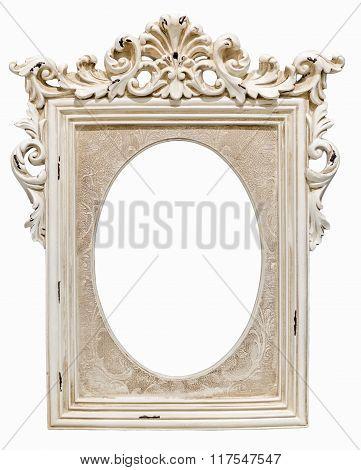 Classic photo frame isolated on white background.