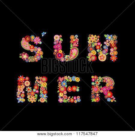 Summer flowers. Fashion print