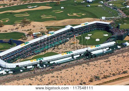 Scottsdale, Arizona, Usa-february 3, 2016-aerial View Of The Waste Management Phoenix Open On Februa