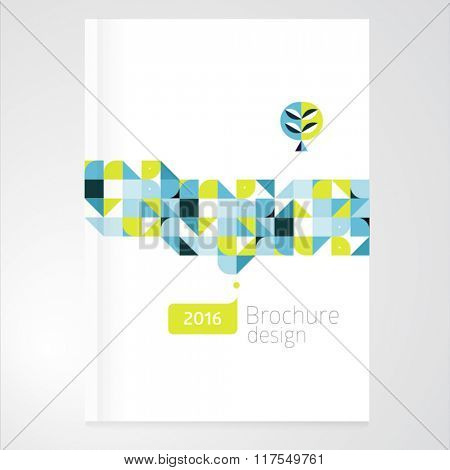 Vector abstract brochure, report design template