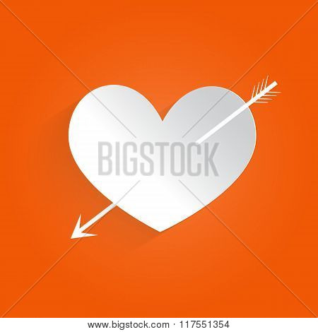 Heart With Arrow. Vector Illustration .