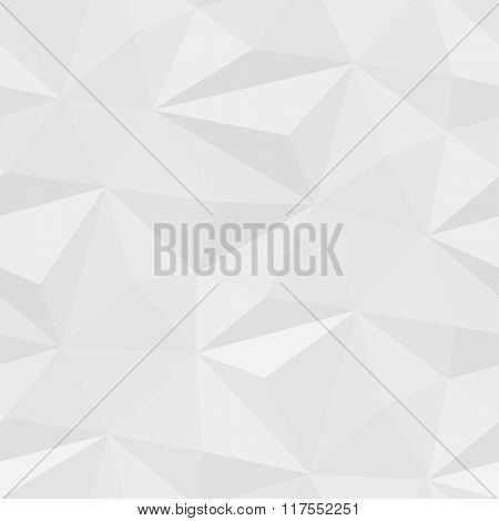White seamless mosaic pattern of abstract triangle elements with shadows. Vector Illustration EPS 10
