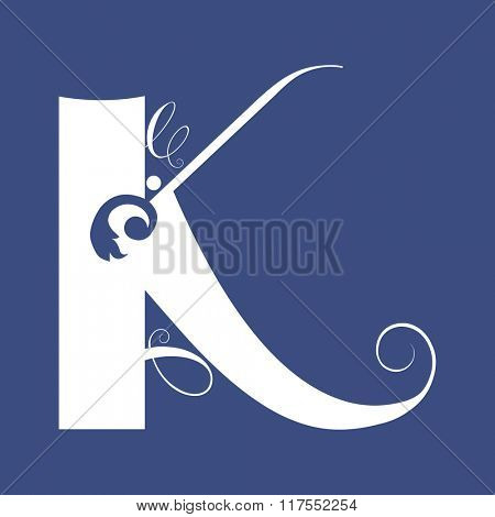 calligraphic letter K