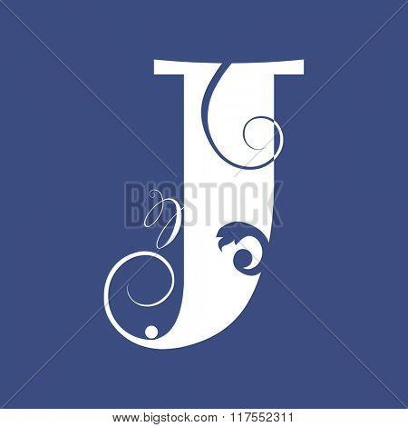 calligraphic letter J