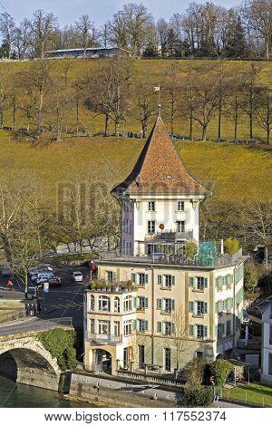 Bern, House Visible From Nydeggbruecke Bridge