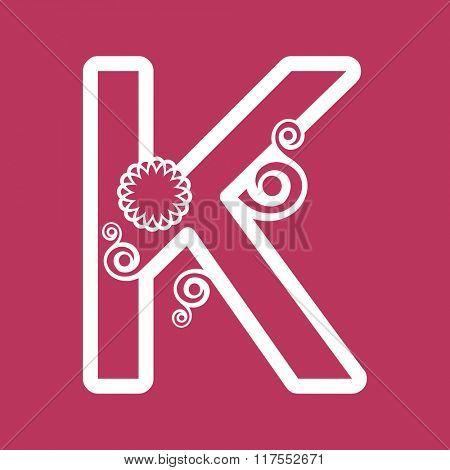 ornamental letter K