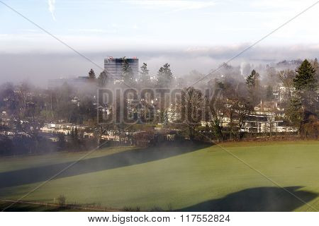 Foggy Day In The Outer District Of Bern