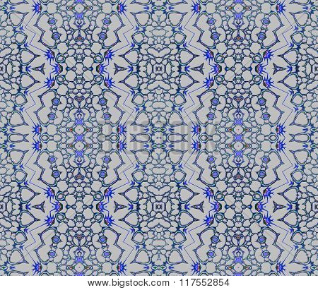 Seamless ellipses pattern silver gray blue purple