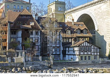 Half-timbered Houses In Bern
