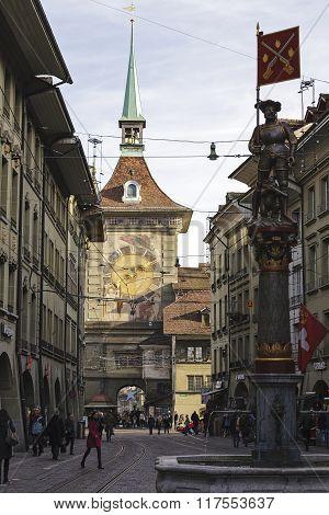 The Clock Tower In Bern, Switzerland