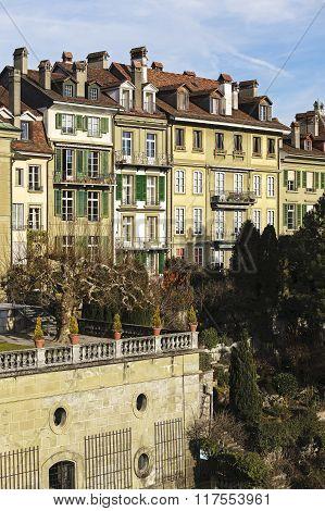Townhouses In City Center Of Bern In Switzerland