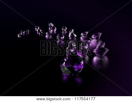 Jewelry gemstone on dark background