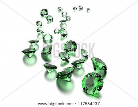 Jewelry gemstone on white  background