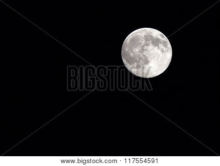 Closeup image of the full moon