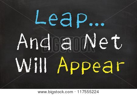 Leap...and a Net Will Appear