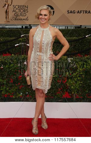 LOS ANGELES - JAN 30:  Laura Bell Bundy at the 22nd Screen Actors Guild Awards at the Shrine Auditorium on January 30, 2016 in Los Angeles, CA