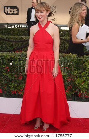 LOS ANGELES - JAN 30:  Stephanie Drake at the 22nd Screen Actors Guild Awards at the Shrine Auditorium on January 30, 2016 in Los Angeles, CA