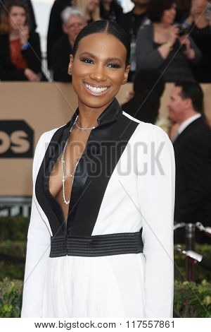 LOS ANGELES - JAN 30:  Vicky Jeudy at the 22nd Screen Actors Guild Awards at the Shrine Auditorium on January 30, 2016 in Los Angeles, CA