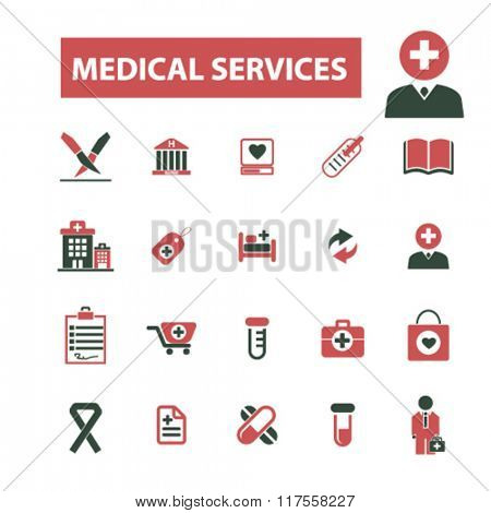 medical services, consulting, consultant, doctor, coach, therapist icons, signs