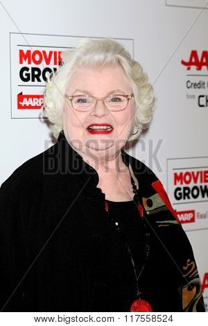 LOS ANGELES - FEB 8:  June Squibb at the 15th Annual Movies For Grownups Awards at the Beverly Wilshire Hotel on February 8, 2016 in Beverly Hills, CA