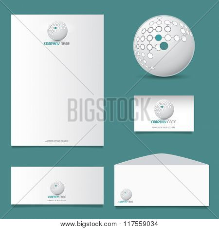 Business stationery design with modern logo