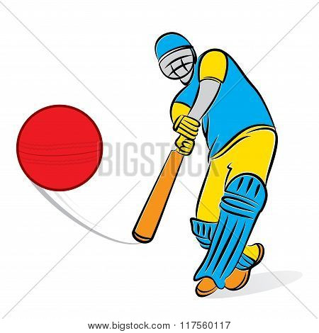 cricket player hitting big shoot design