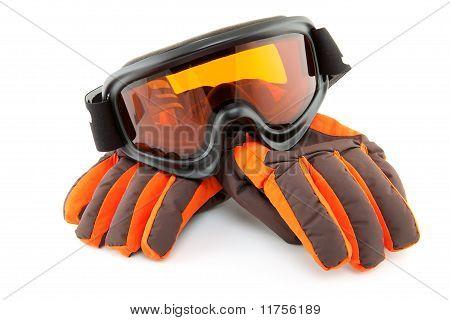 Ski Goggles And Gloves