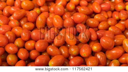 Red Grape Tomato Background, Two Clipping Paths Included